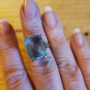 Size 6 Sterling Silver Tanzanite Ring
